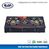 Factory Cheap Price Honeycomb Burner Tempered Glass Table Top Three Burner Gas Stove Gas Cooker