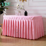 Cheap Pink Square Table Skirt