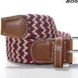 B05 Wholesale Ladies 4cm Width Stretch Men Belts Fashion Mix Color Braided Elastic Belts