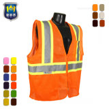 First Responder Yellow Silver Stripes Safety Vest