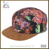 Custom Suede Brim Leather Patch Tie Dye 5 Panel Hat