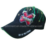 Splash Firework Embroidery Cotton Twill Leisure Baseball Cap (TMB00650-1)