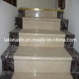 Design Prefab Natural Marble Stone Straight Step Stairs for Indoor