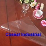 Super Clear Plastic PVC Table Cloth with EU Standads