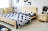 Solid Wooden Bed Modern Double Beds (M-X2282)