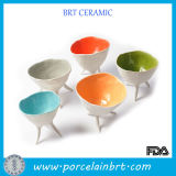 Ceramic Dinner Set Different Colored Foot Standing Mixing Bowl