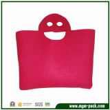 Popular Customized Red Canvas Women Bag with Smiling Face Handle