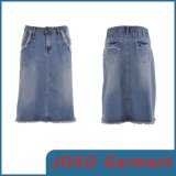 Knee Length Women Denim Skirt (JC2042)