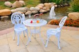 Die Cast Aluminum Outdoor Patio Furniture Rose Bistro Set