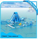 New Design 0.9mm PVC Inflatable Water Park Games with Giant Slide