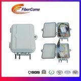 Waterproof 24 Cores FTTH Plastic Fiber Optic Distribution Terminal Box/1: 16 Splitter Box