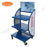 Wholesale Automotive Car Battery Storage Display Rack with Wheels