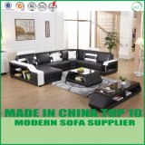 Nordic Style Modern U Shape Leather Couch for Living Room