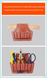Tan High Quality Cowhide Leather Immovable Clamp Set Tool Bag