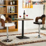 Bentwood Adjustable Cylinder PU Bar Stool Counter Chair