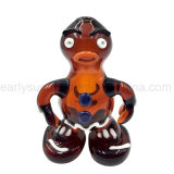 Red Zelda Volcano Lava People Design Glass Hand Pipe (ES-HP-129)