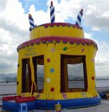 Bouncy Castles, Birthday Cake Theme Castle, Jumpballoon Inflatables (B1024)