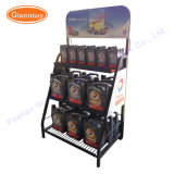 Customized Wholesale Metal Enginge Lubricating Lube Oil Bottle Display Shelf Rack for Sale