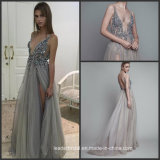 Split Party Gowns Sexy Tulle Beading Prom Cocktail Dresses Ra919