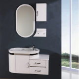 PVC White Basin with Mirror Bathroom Sanitary Cabinet
