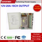 12V 20A 18CH Output CCTV Camera Switching Power Supply