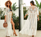 Beach Cover up Dress Women Chiffon Lace Suit Swimsuit Cover up Summer Beachwear Dress