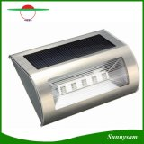 Solar Powered 5 LEDs Wall Light Stainless Steel Wireless Lamp