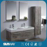 Hot Selling Double Sink Melamine Bathroom Cabinet for 2018