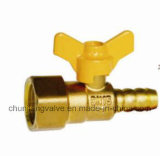 Butterfly Handle Female Thread Brass Gas Ball Valve (RQ231)