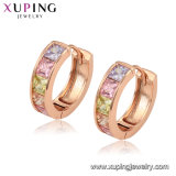 Imitation Fashion Cheap Small Stone Around Rose Gold Earrings Diamond Hoop Earring Jewelry