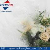 3-8mm Clear Golden Fish Pattern Glass for Building Glass