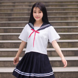 Japanese School Sailor Uniform Fashion Navy Sailor School Uniforms for Cosplay Girls Suit
