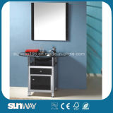 Standing Glass Bathroom Furniture with Basin Sw-G006
