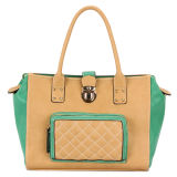 Fashion Embroider Stylish Big Leather Handbags (MBNO032081)