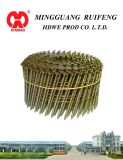 "Round Head, Flat Type, 2-3/8"" X. 093"", Screw Shank, Bright, 15 Degree Wire Collated Siding Nails, Coil Nail"