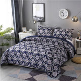 3PC Printed Cheap Disperse Print Pigment Printed Polyster Coverlet Quilt Sets