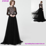 New Fashion Long Sleeve Evening Dress Elegant Slim Lady Formal Dress