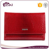 Fani Manufacture Women Wallet Red Crocodile Skin Leather Wallet Short Style Folding Lady Purse
