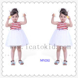 100% Cotton Girls Blouse Short Dress Children Clothing Dresses for Little Girls