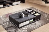 Functional Wooden Coffee Table Withtempered Glass Top (CJ-2031)