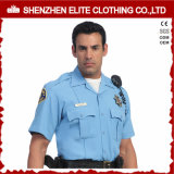 2017 Cheap Wholesale Men Light Blue White Custom Us Police Shirt (ELTHVJ-287)