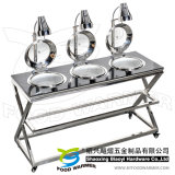Heat Lamp Electric Food Warming Chafing Cart