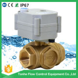 3 Way Horizontal Brass Motorized Water Ball Valve (T20-B3-C)