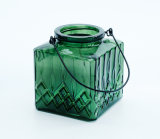 Best Price Glass Green Color Storm Lantern/ Candle Holder.