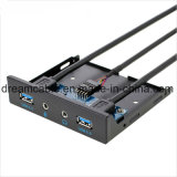 3.5 Inch 2 Port USB 3.0 USB Front Panel with HD Audio and Microphone
