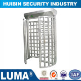 Stainless Steel Security Systems Mechanical Entry Gate Full Height Turnstile