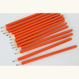 Wooden Pencils Hb with Orange Color Body Coating