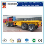 Hot Selling 4 Axles Turnable Flatbed Container Full Trailer with Drawbar