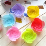 Colorful Muffin Rose-Shaped Silicone Cake Mold