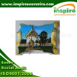 OEM Rectangle Polyresin Fridge Magnet for Souvenir (PMG097)